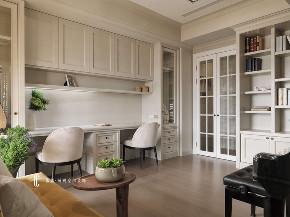 书房图片来自张馨_瀚观室内装饰在三个女人的家的分享