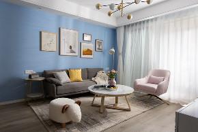 简约 三居 客厅图片来自俏业家装饰在龙湖两江新宸三房北欧风格装修的分享