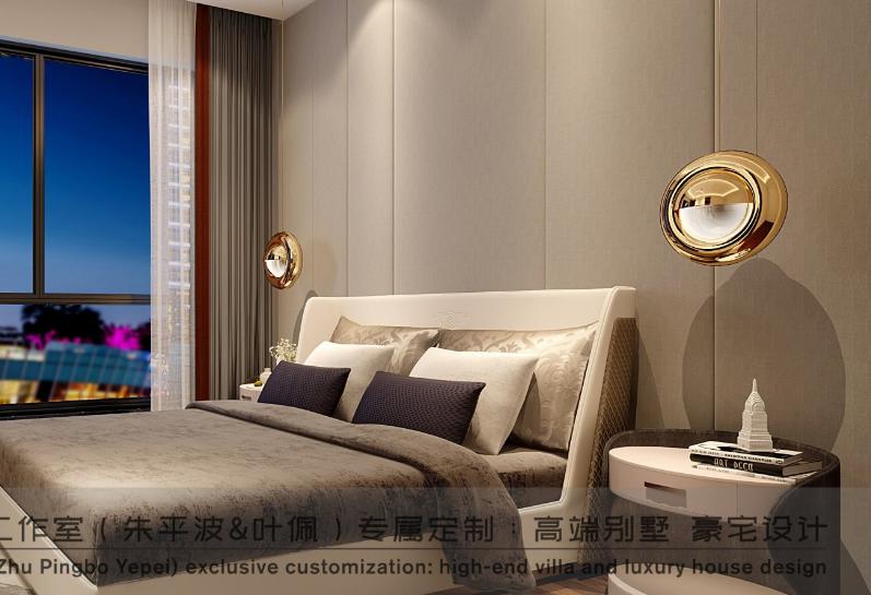 港式轻奢 朱平波 高端设计 成都装修 大平层 卧室图片来自朱平波在华润金悦湾-港式轻奢的分享