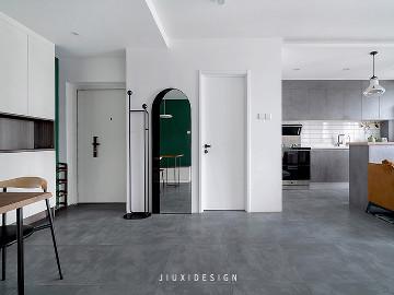 墨绿+白,轻奢气质打造复古美宅