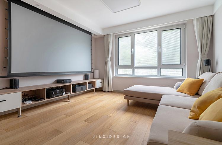 二居 收纳 花园洋房 客厅图片来自久栖设计在颜值与实用并存,如太阳般温暖的分享