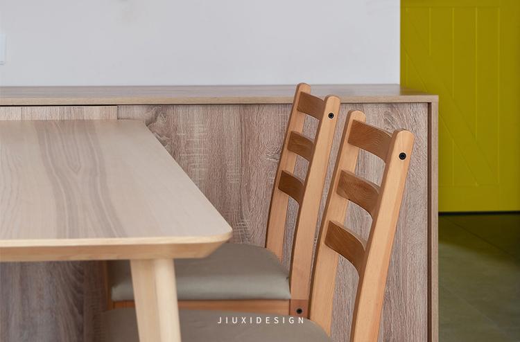 二居 收纳 花园洋房 餐厅图片来自久栖设计在颜值与实用并存,如太阳般温暖的分享