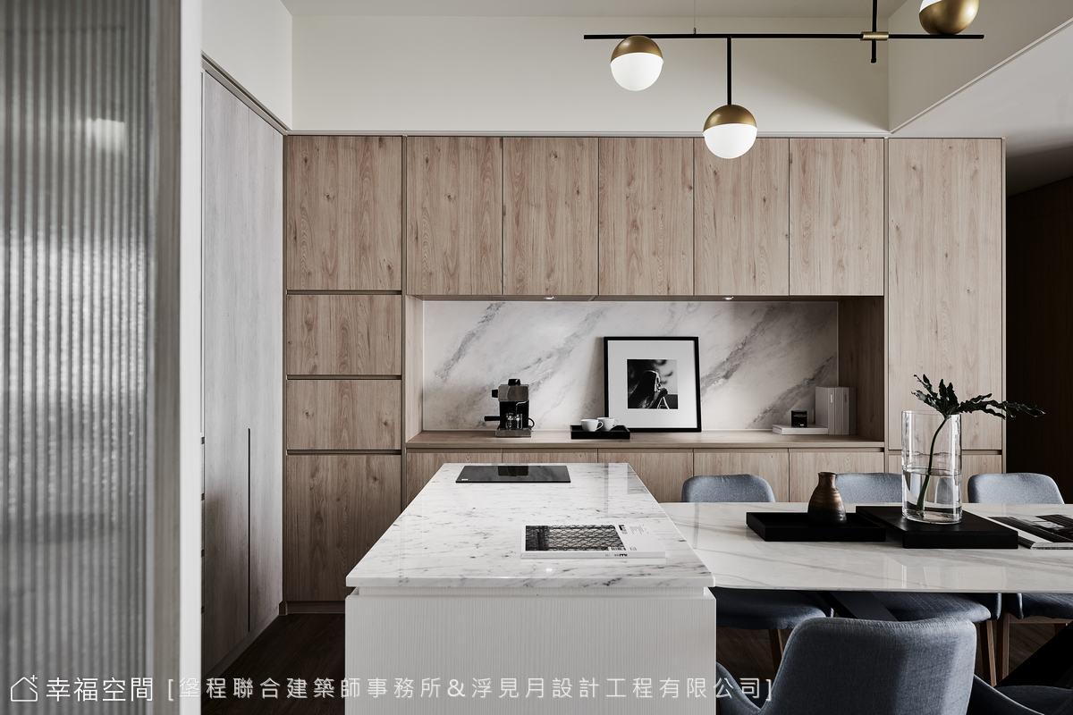 装修设计 装修完成 现代风格 标准格局 餐厅图片来自幸福空间在102平, 打造三代同堂健康机能宅的分享