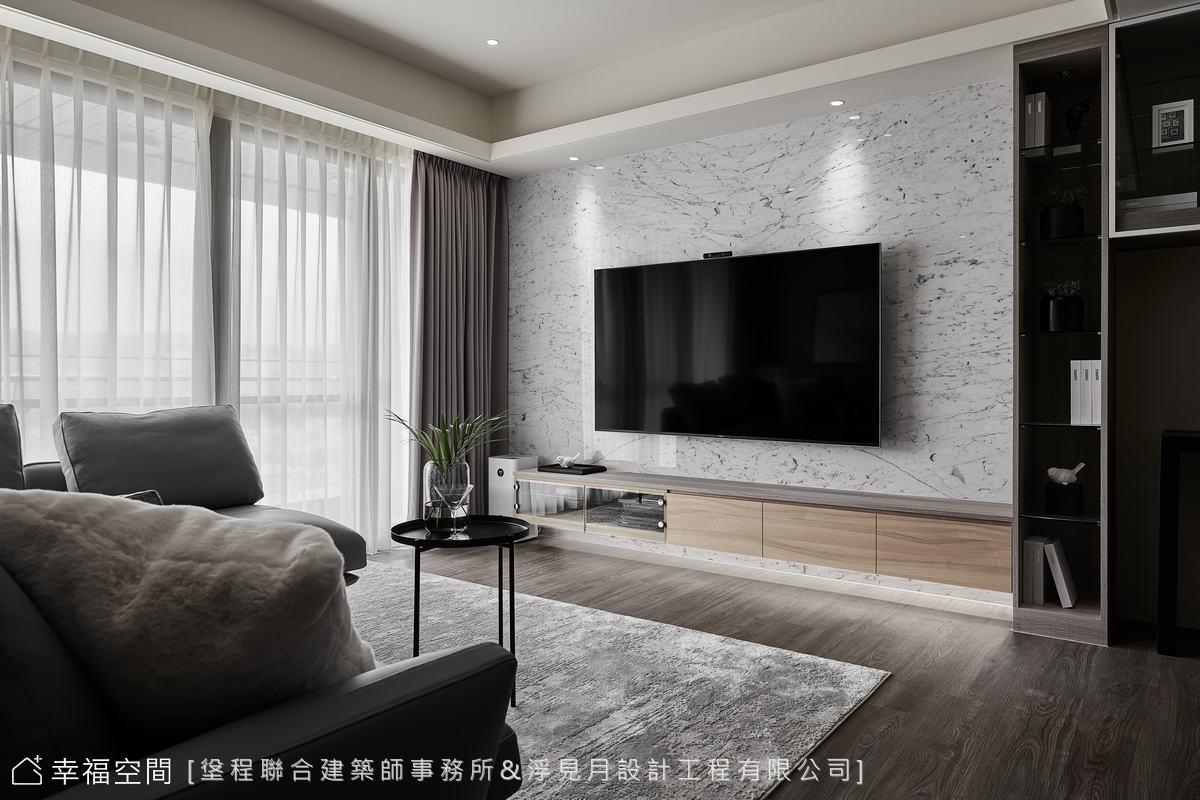 装修设计 装修完成 现代风格 标准格局 客厅图片来自幸福空间在102平, 打造三代同堂健康机能宅的分享